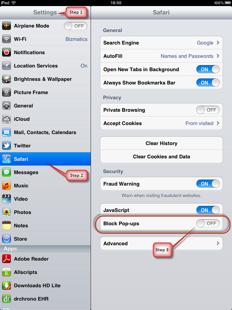 Launch Settings, tap Safari, tap the switch next to Prevent Cross-Site  Tracking